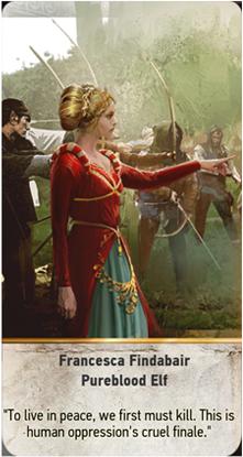 Francesca Findabair Pureblood Elf card