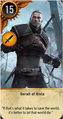 Geralt of Rivia card