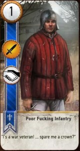 Poor Fucking Infantry card