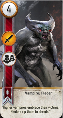Vampire: Fleder card