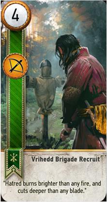 Vrihedd Brigade Recruit card