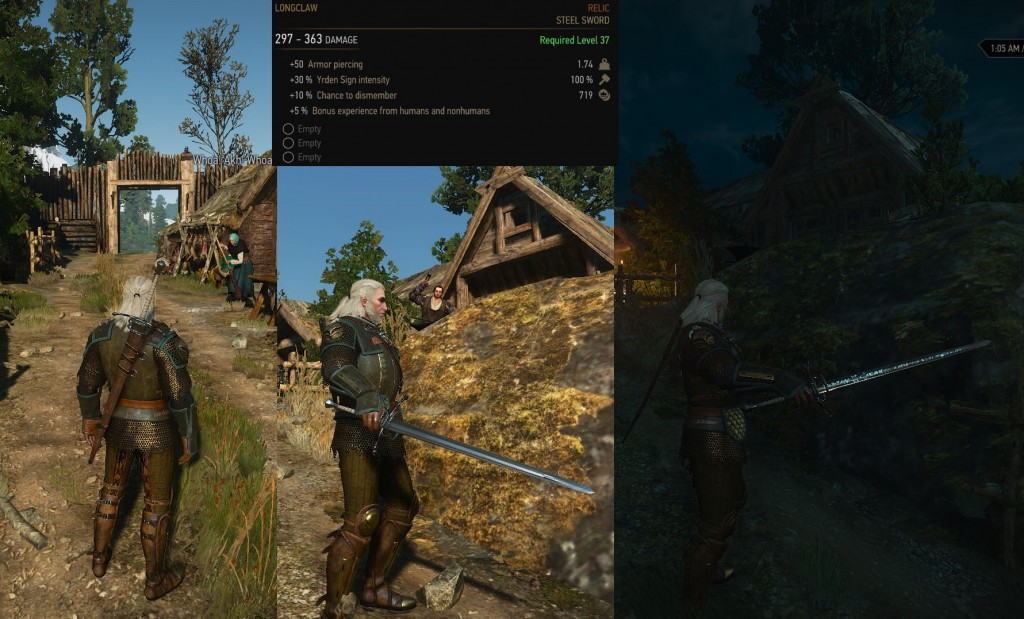 witcher 3 longclaw relic steel sword
