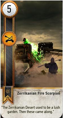 Zerrikaninan Fire Scorpion card