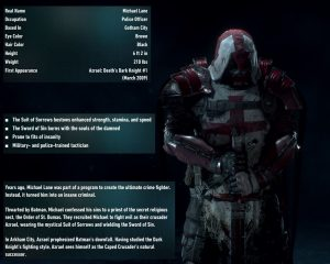 Batman Arkham Knight Heir Azrael's Bios