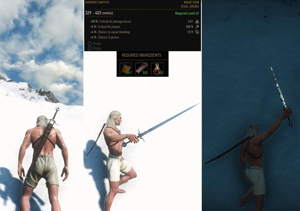 Gnomish Gwyhyr Witcher Steel Sword