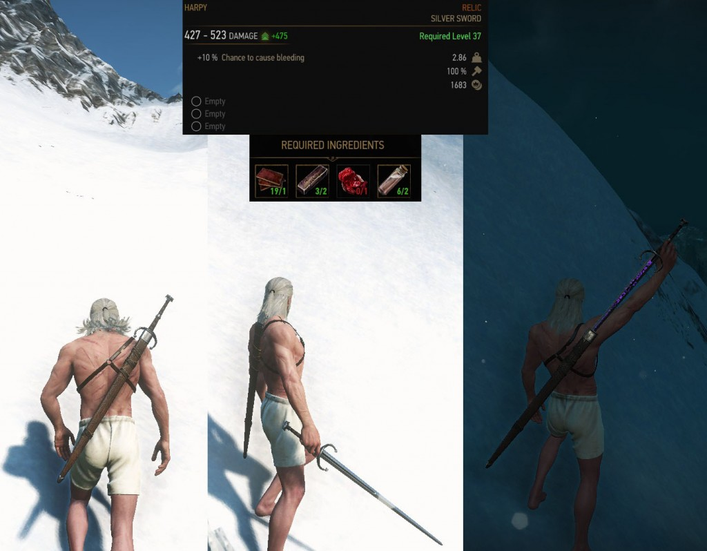 Harpy Witcher 3 Relic Silver Sword