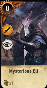 Witcher 3 Avallach Balad Heroes Gwent Card
