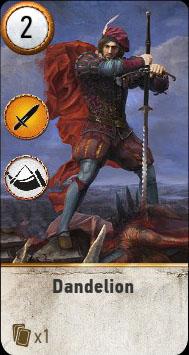 Witcher 3 Dandelion Ballad Heroes Gwent Card
