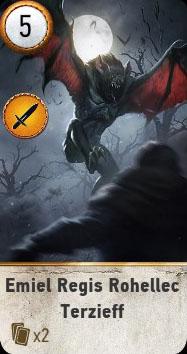 Witcher 3 Emiel Ballad Heroes Gwent Card