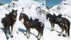 Witcher 3 Nilfgaardian Horse Equipment