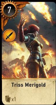 Witcher 3 Triss Merigold Ballad Heroes Gwent Card
