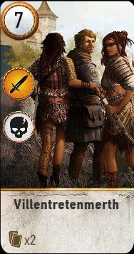 Witcher 3 Villentretenmerth Ballad Heroes Gwent Card