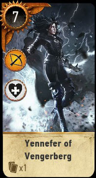 Witcher 3 Yennefer Ballad Heroes Gwent Card