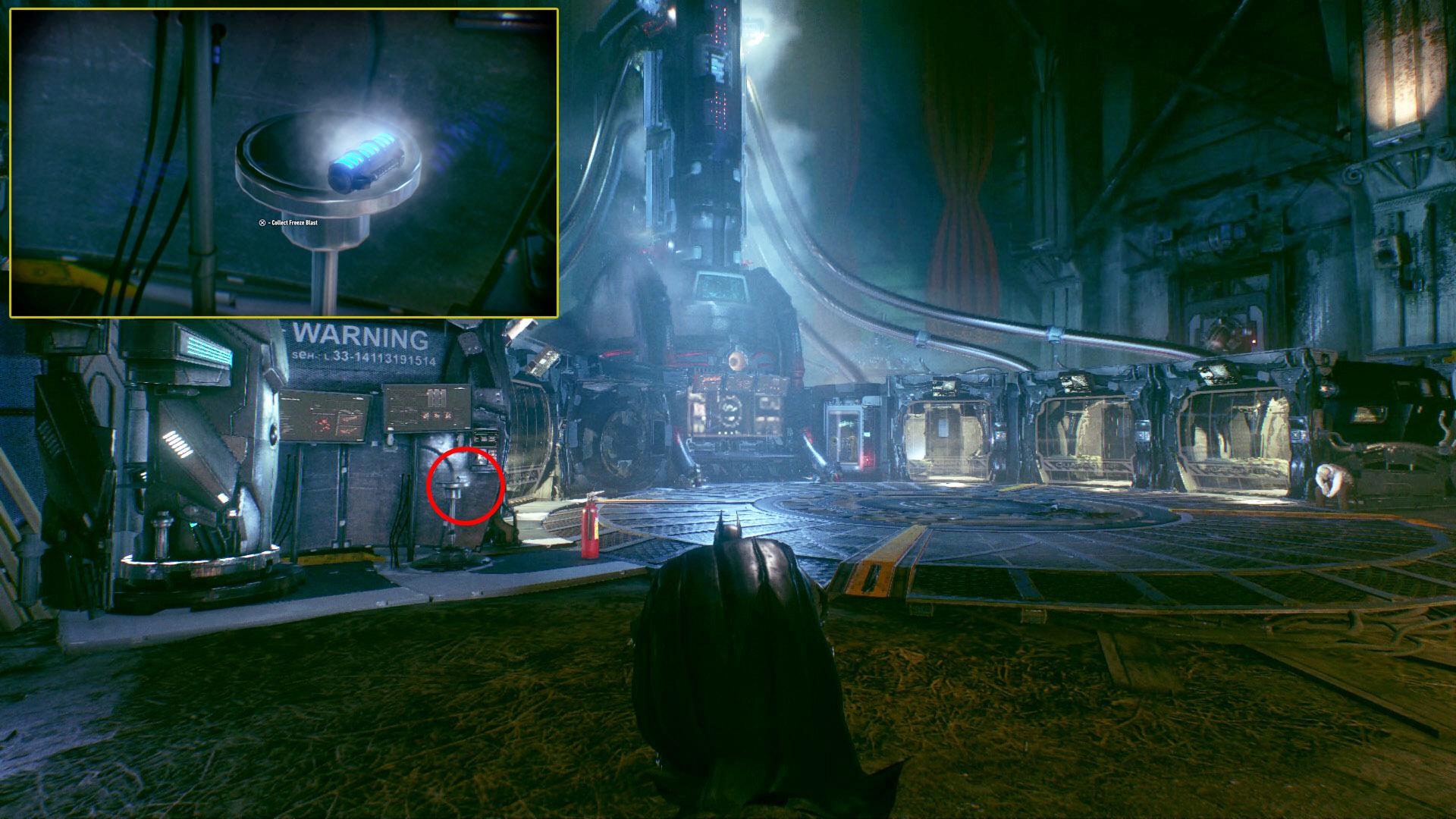 Freeze Blast Location | Batman: Arkham Knight
