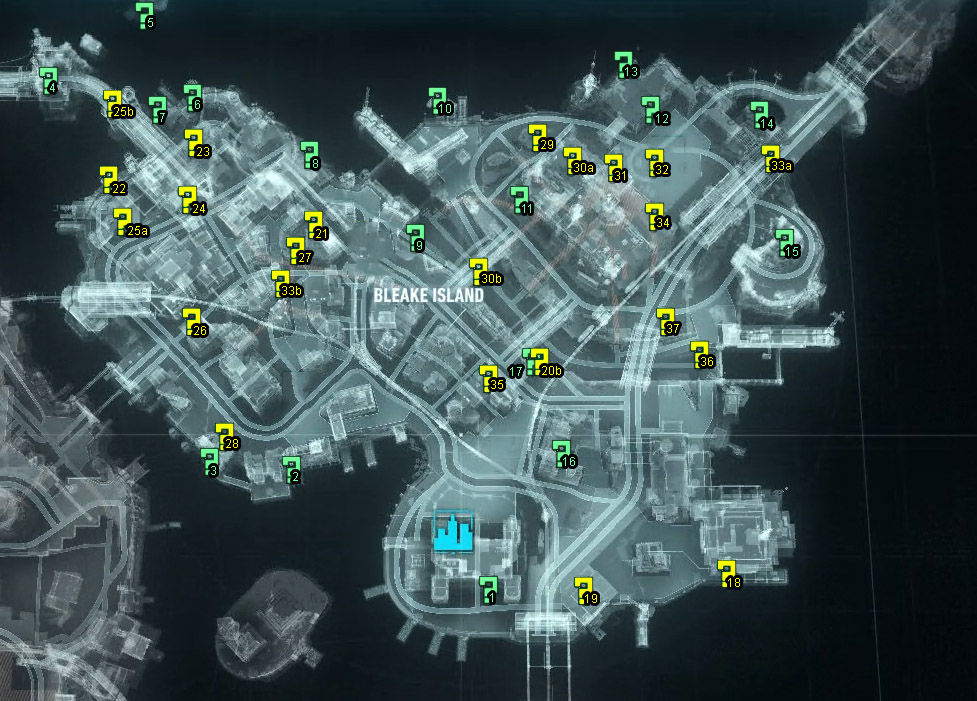 bleake island riddler trophy locations