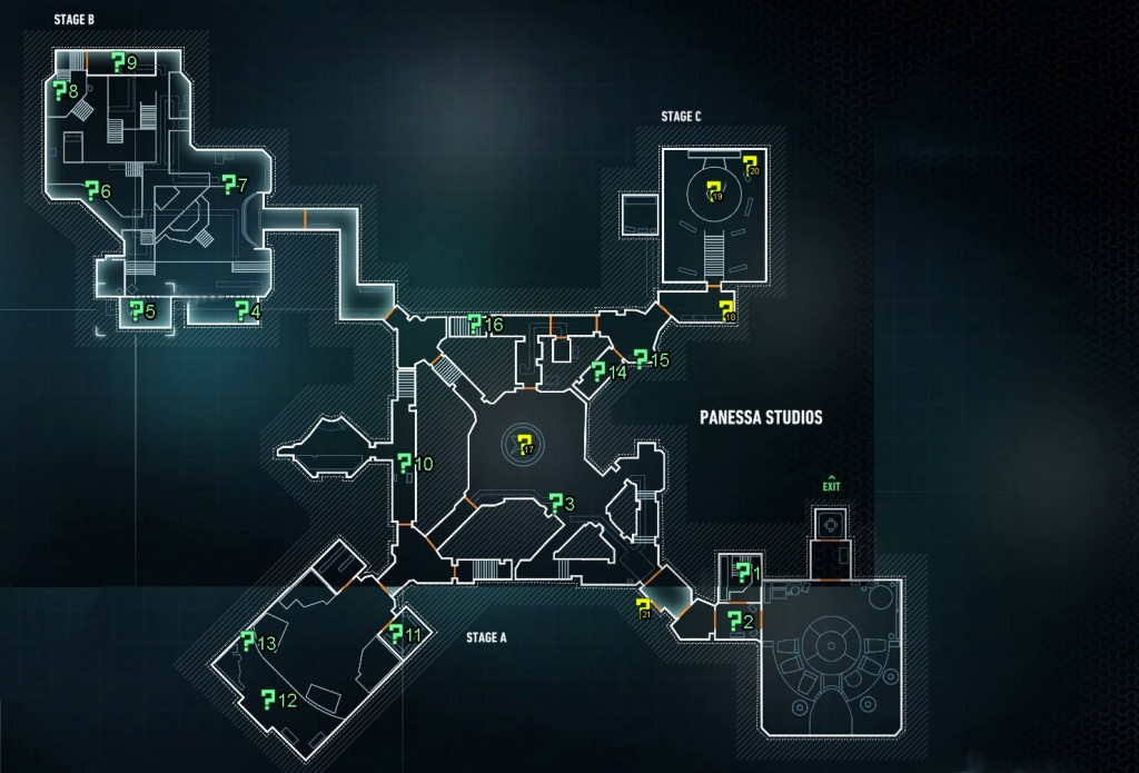 riddler trophy location map panessa studios