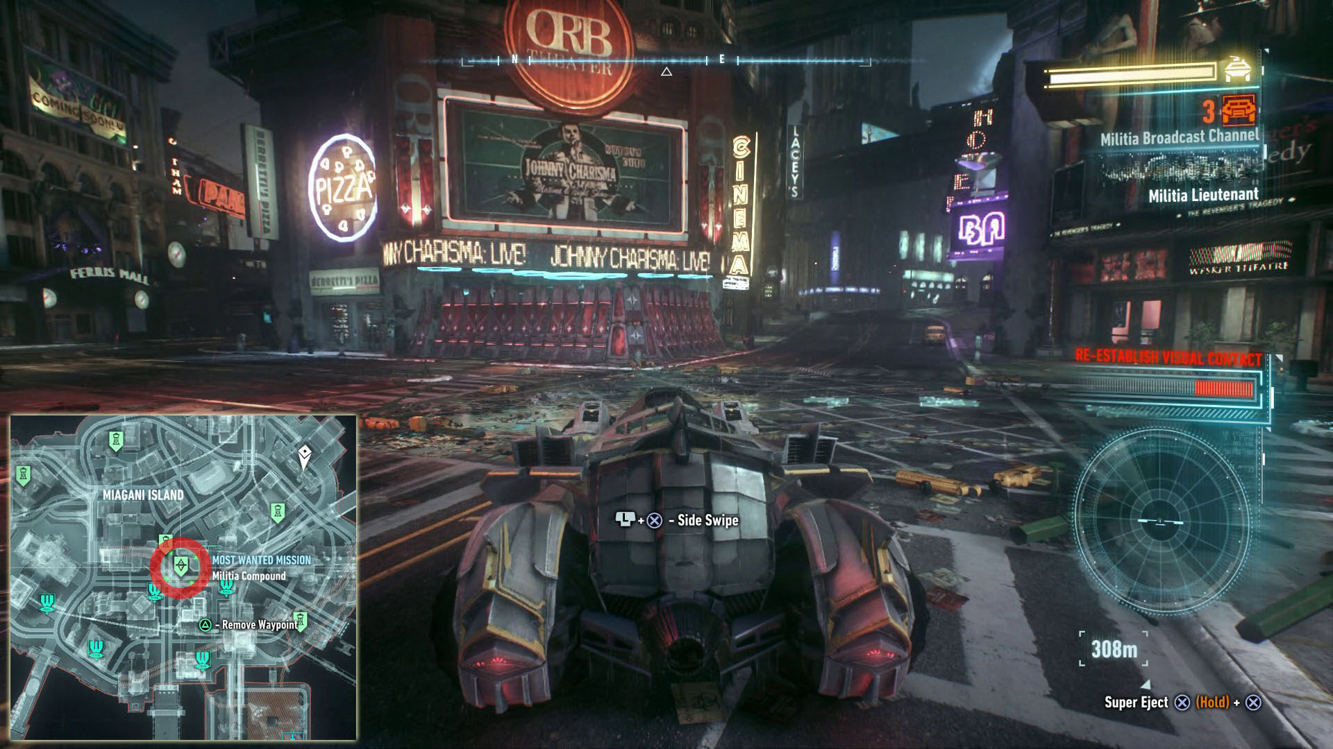 Own The Roads Side Mission Batman Arkham Knight