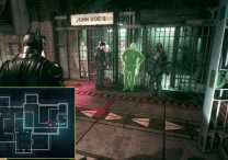 arkham knight glowing green officer in gcpd