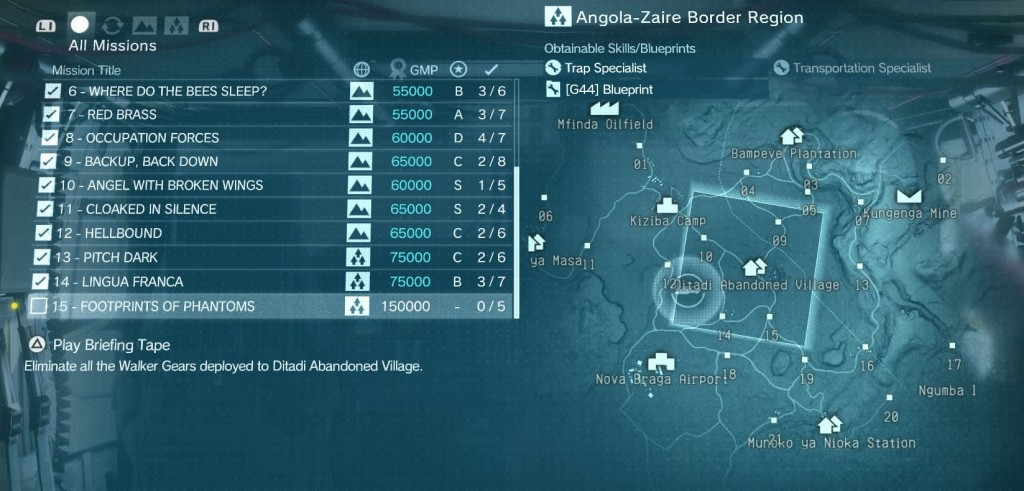 MGS The Phantom Pain Footprints of Phantoms