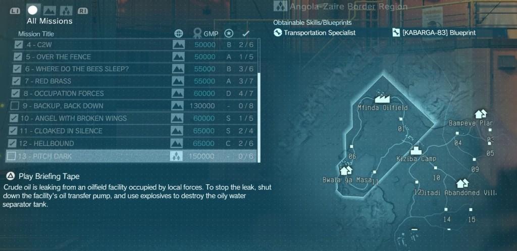 Metal Gear Solid TPP Pitch Dark Mission