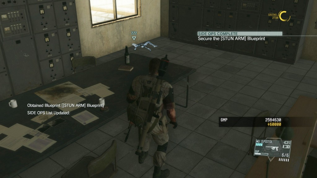 mgsv phantom pain stun arm research blueprint