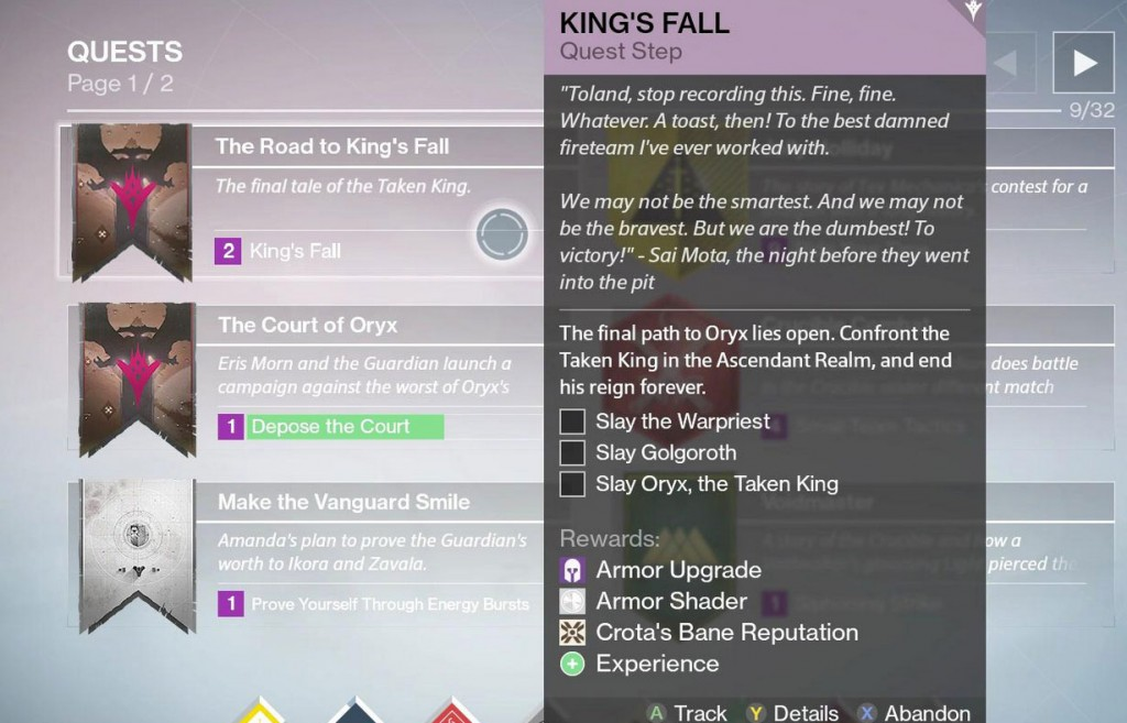 Destiny King's Fall