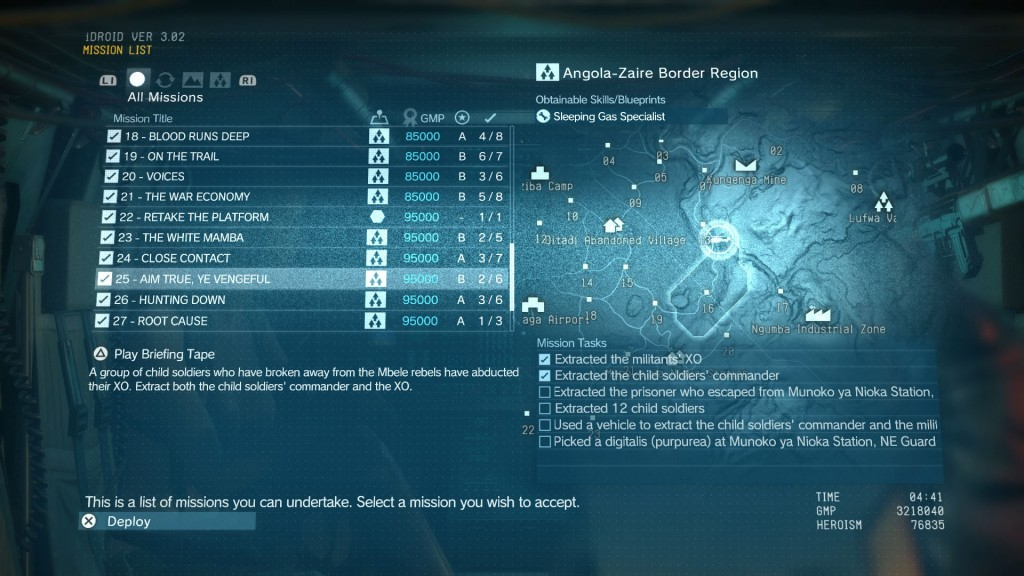 Metal Gear Solid 5 TPP Aim True Ye Vengeful Mission Walkthrough