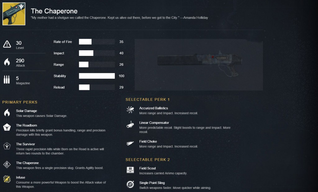 destiny taken king chaperone exotic shotgun