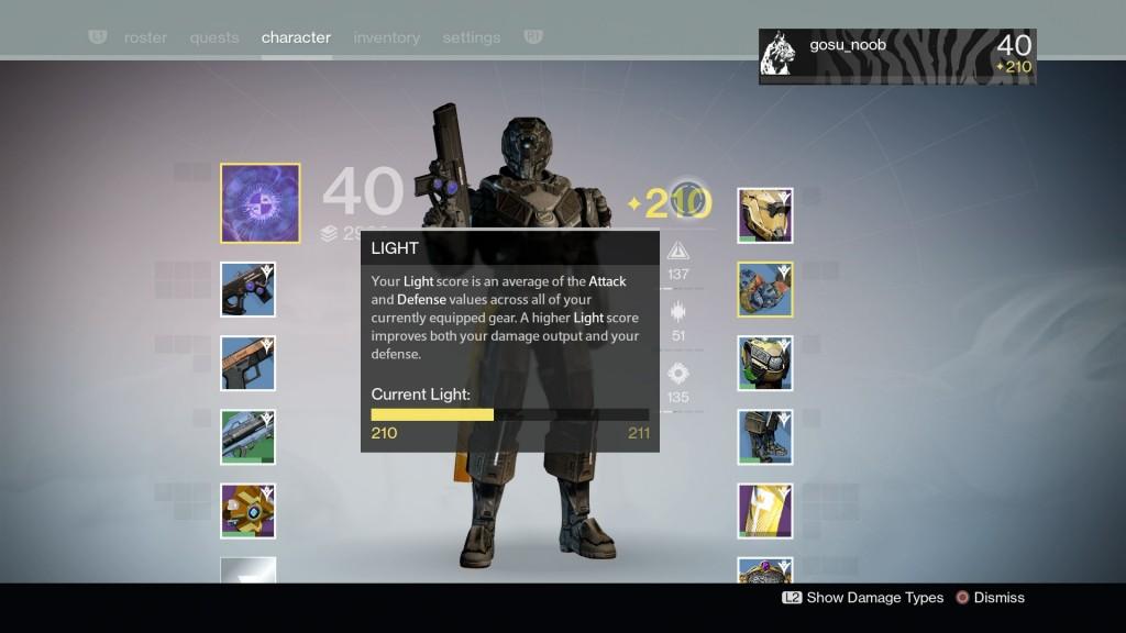 destiny the taken king light level up king's raid