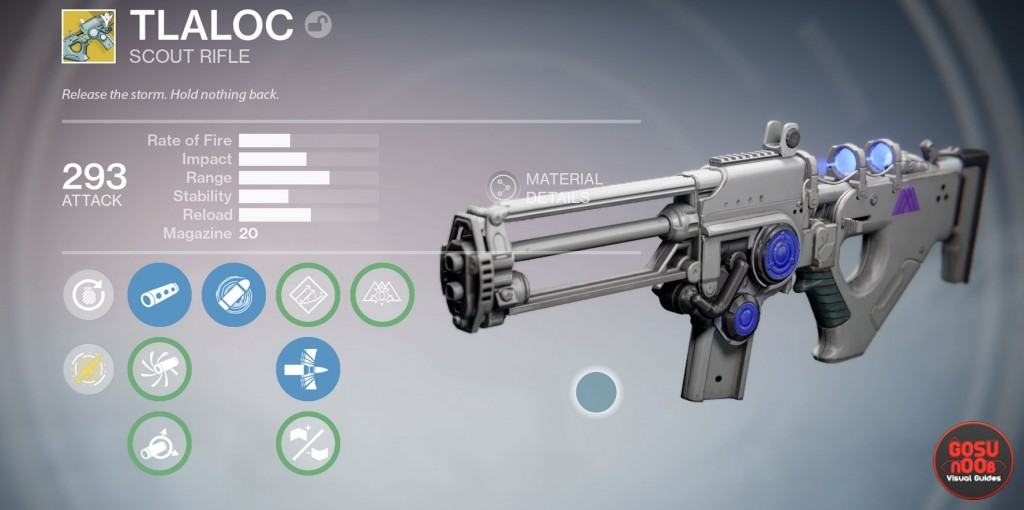 destiny Tlaloc exotic Scout Rifle