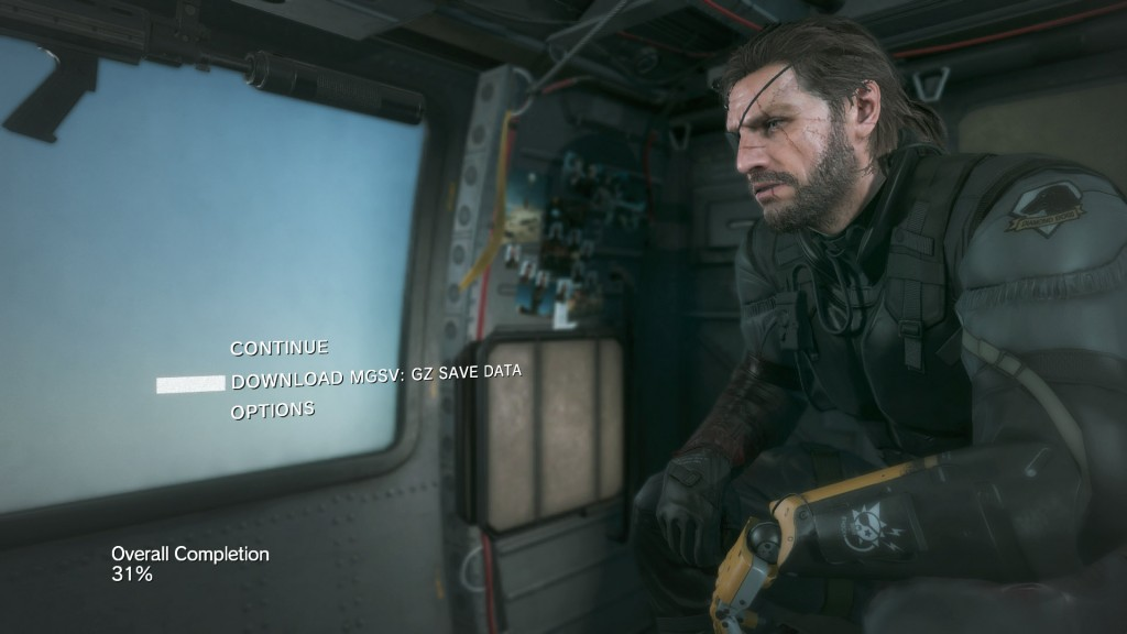 ground zeroes save data transfer to mgsv the phantom pain