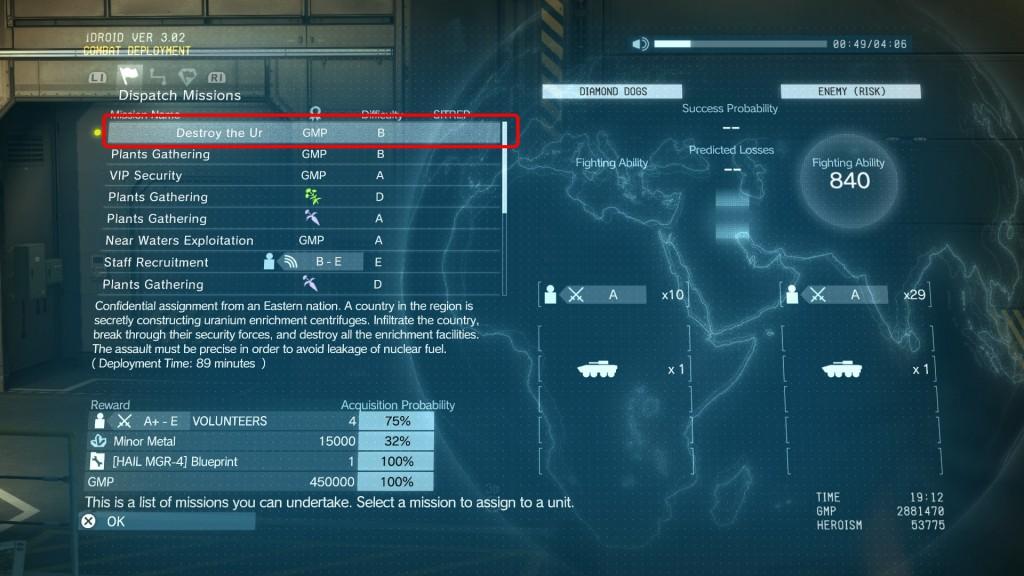 mgs5 phantom pain hail mgr-4 blueprint location