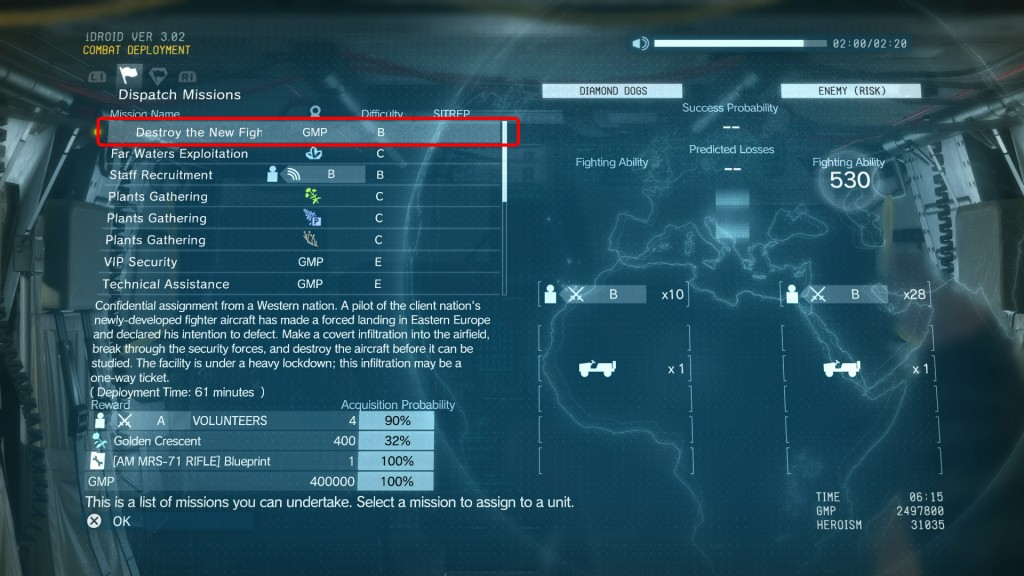 mgsv am mrs-71 rifle blueprint location