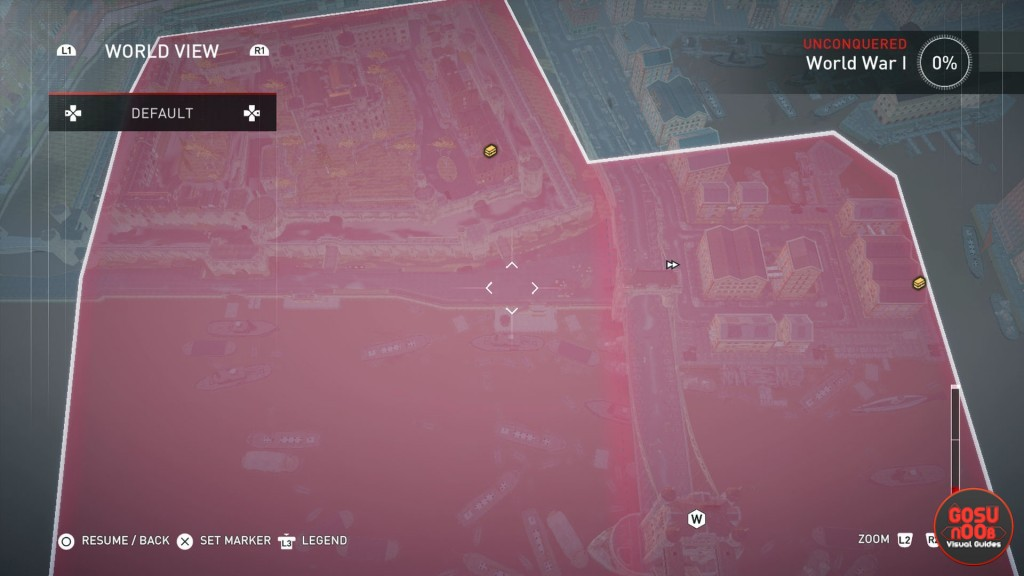 AC Syndicate WWI Locked Chests Map