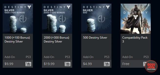 Destiny Silver prices