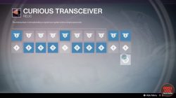 destiny taken king curious transceiver code 3