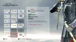 golden lion cane sword