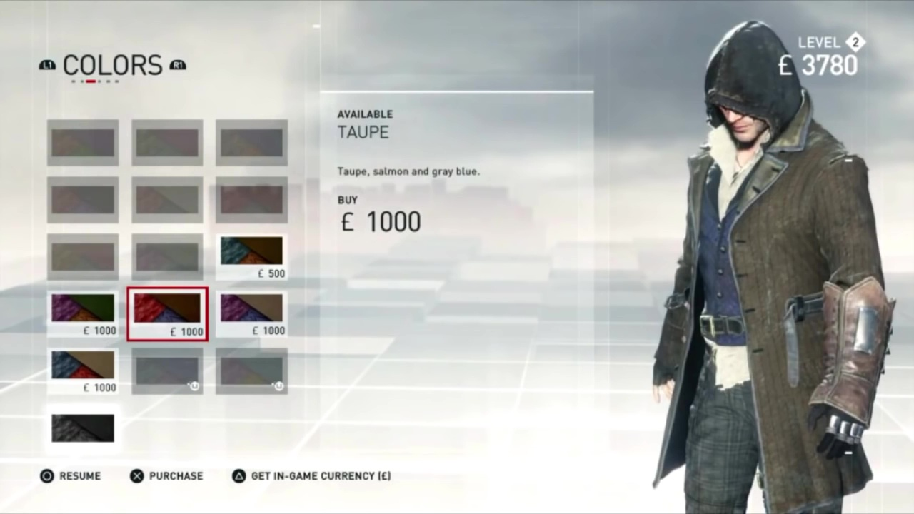 Costume Colors Ac Syndicate