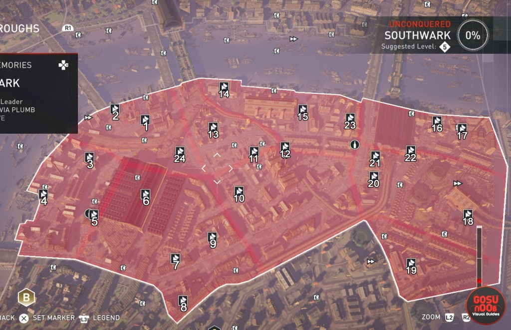 southwark-helix glitches locations map