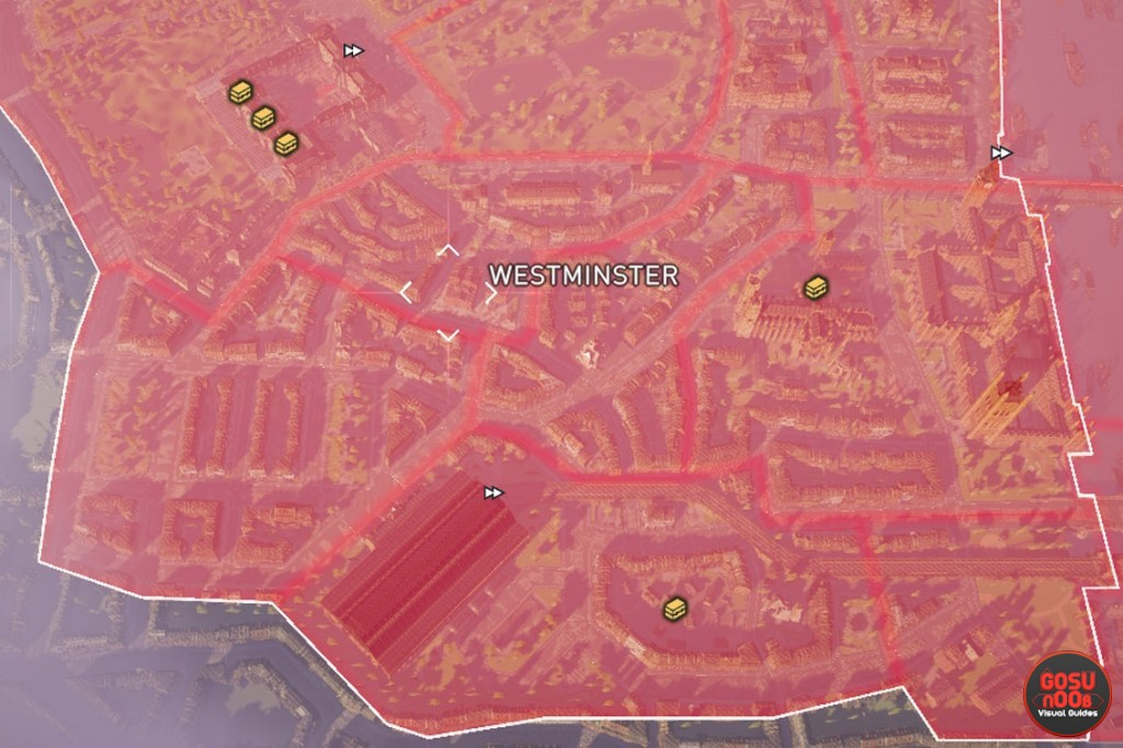 westminster locked chest map