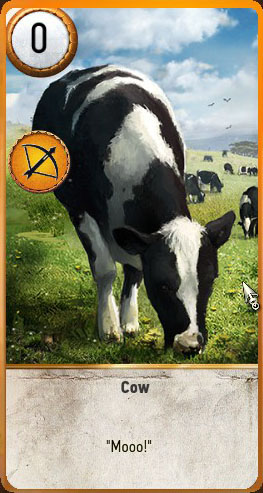 witcher 3 hearts of stone cow gwent card