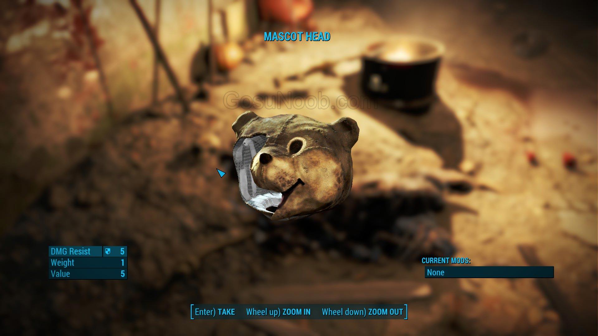 Mascot Head - Unique Costume Fallout 4 - Gosu Noob