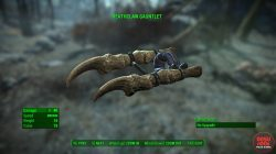 deathclaw gauntlet unique melee weapon