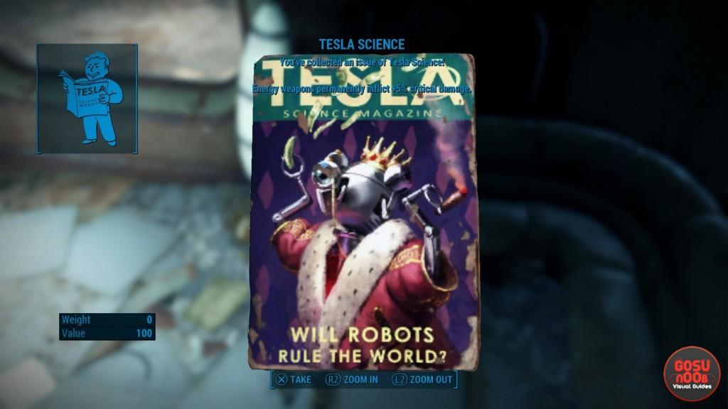 fallout 4 tesla science magazine