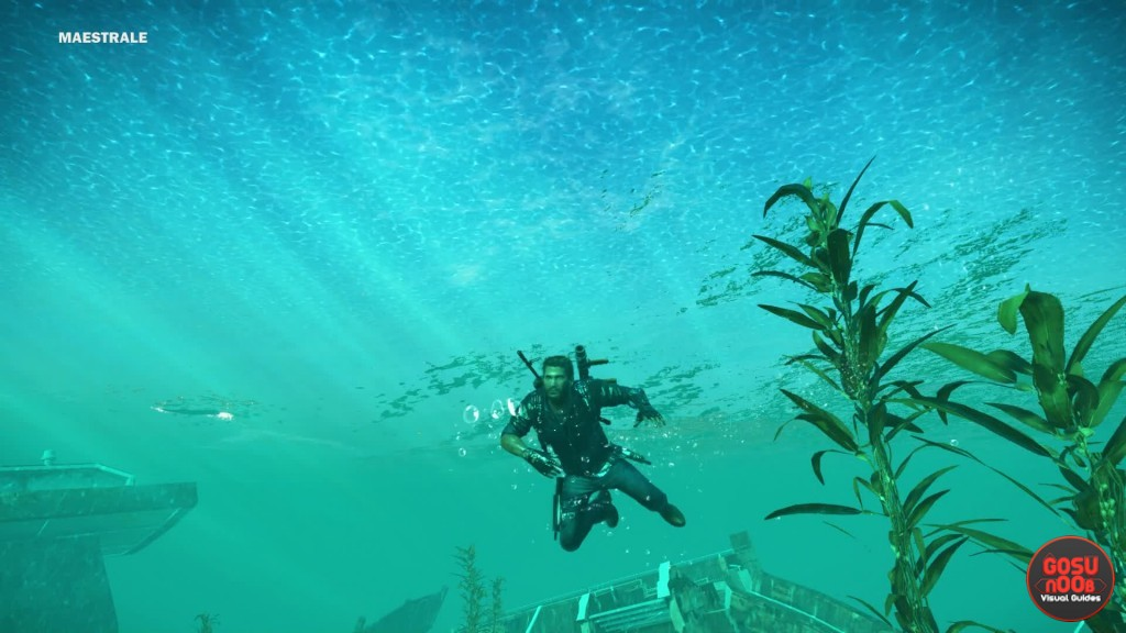 how to swim and dive in just cause 3