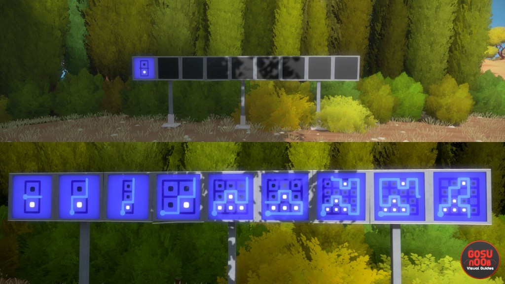blue panel puzzle solutions the witness