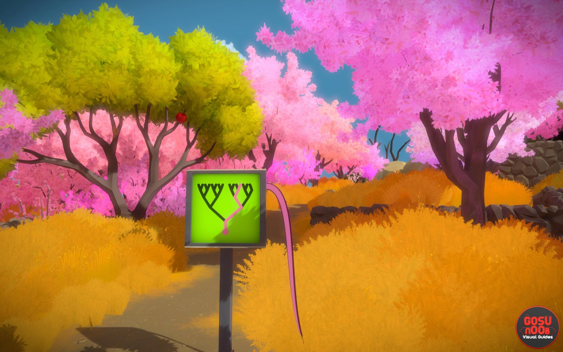 Blue Green Online >> Pink Trees Puzzle Solutions - The Witness | Gosu Noob