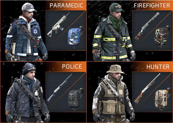 agent origins outfit sets division