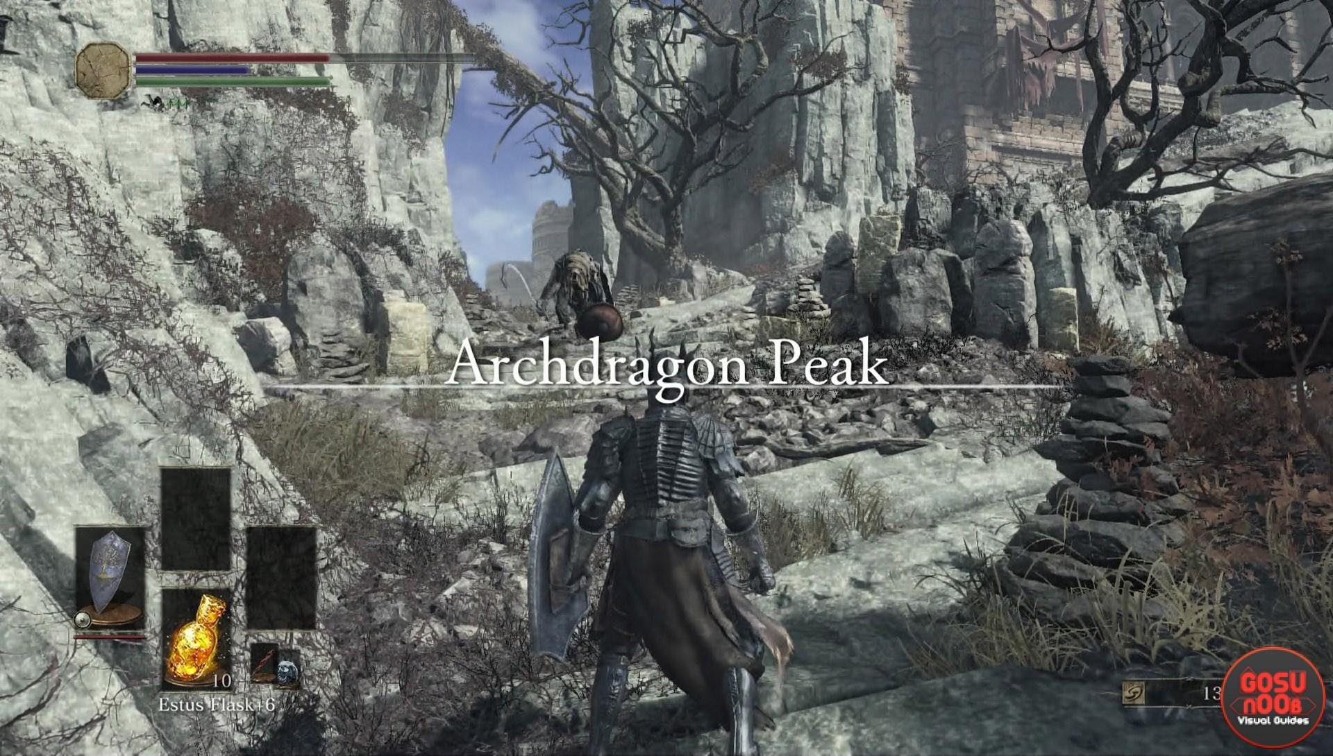 Archdragon peak secret area dark souls gosu noob