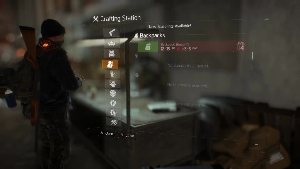 division blueprints crafting items